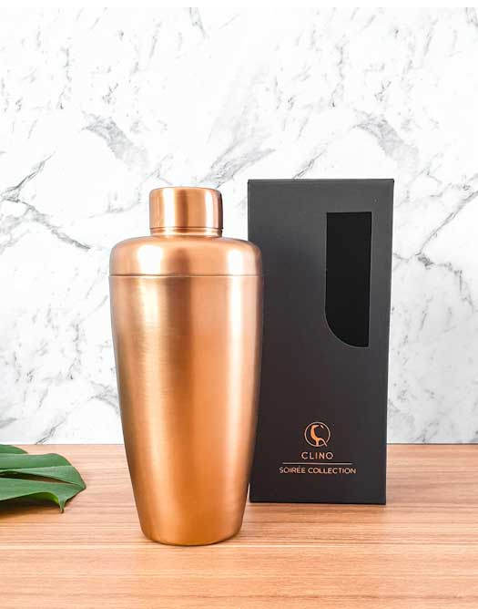 Clinq Copper Cocktail Shaker (Gift Boxed)