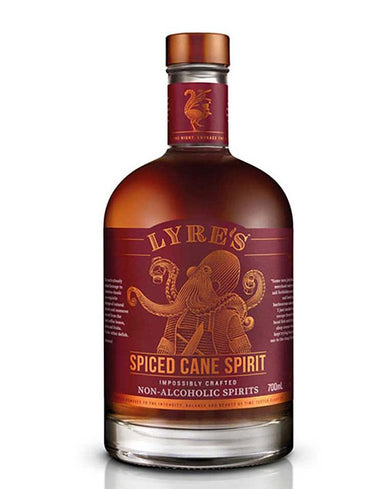 Bottle of Lyre's replacement for dark rum