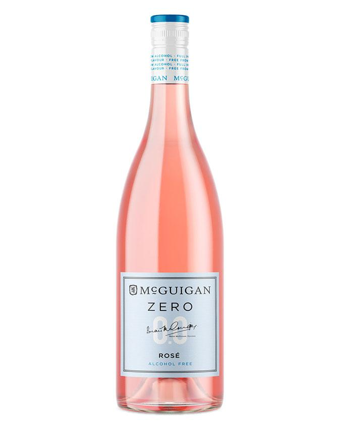 Bottle of McGuigan Zero Dry Rose