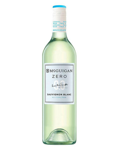 Bottle of Mcguigan's alcohol-free white wine