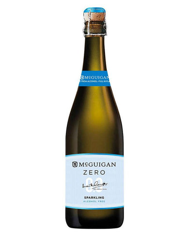 Bottle of McGuigan Zero sparkling white wine