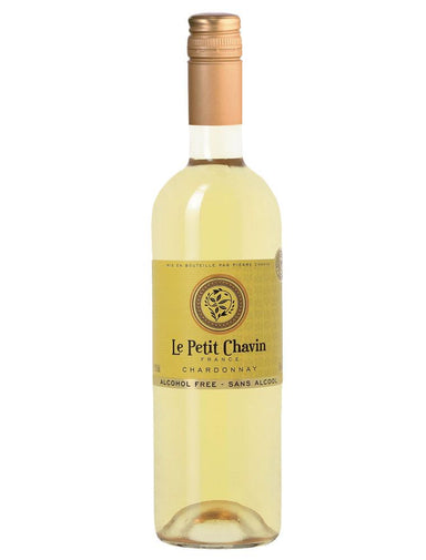 Bottle of non-alcoholic Le Petit Chavin Chardonnay