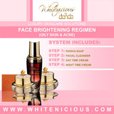 Face Brightening regimen.Oily Skin Set