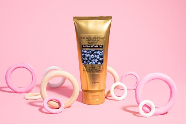 Intense Skin Lightening & Exfoliating blueberry Shower Gel