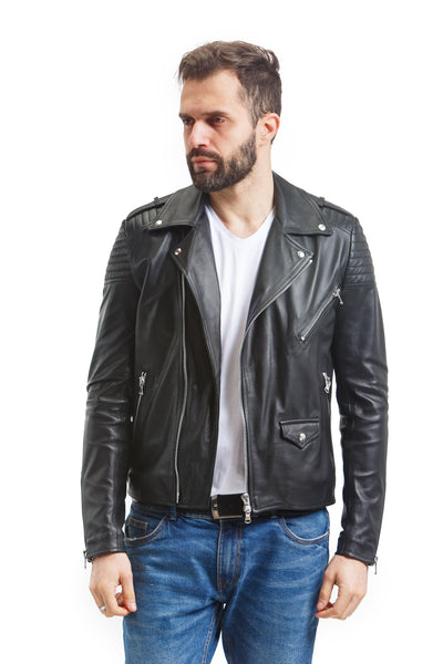 Men's Nappa Moto Jacket - Leather Renaissance