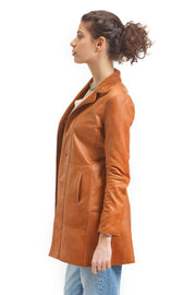 Women's Silvia Antelope Skin Leather Jacket - Leather Renaissance