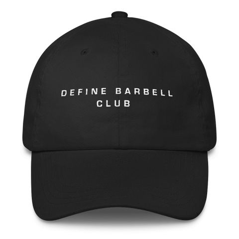 DEFINE BARBELL CLUB - UNISEX HAT BLACK