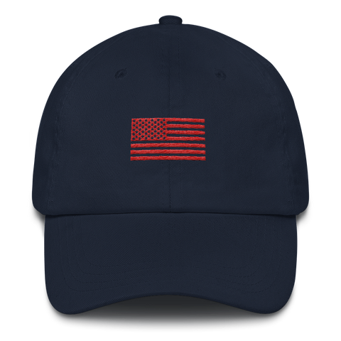 DEFINE FLAG - UNISEX HAT NAVY/RED