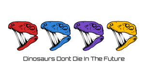Quad Head Dinosaurs Don't Die In The Future Sticker (Free Shipping) 2020 Design