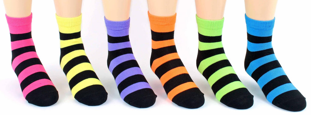 Children's Striped Crew Socks