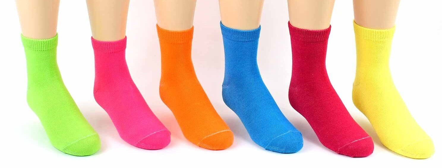 Children's Neon Crew Socks