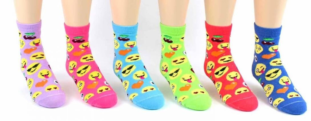 Children's Emoji Crew Socks