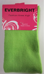 Children's Solid Green Knee High Socks
