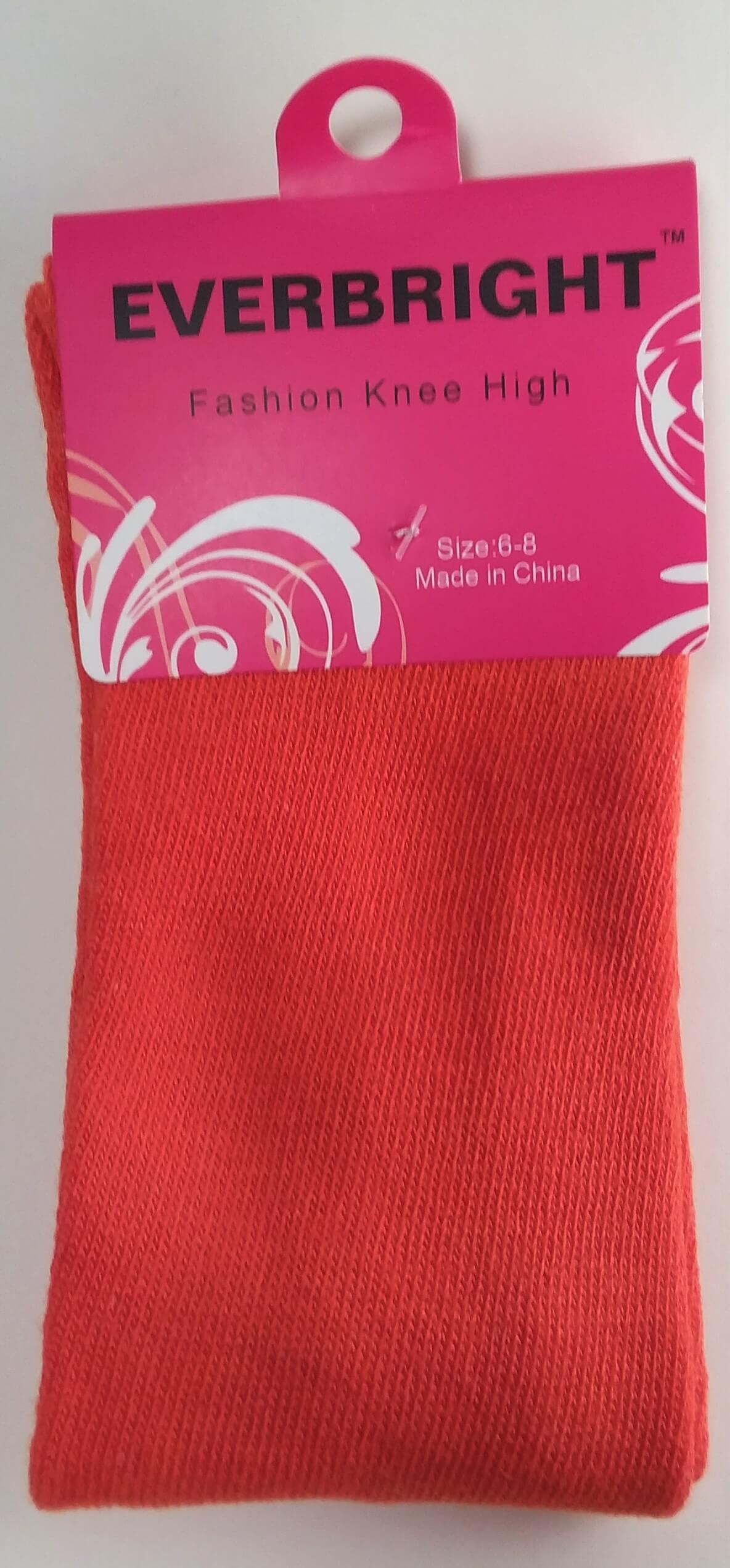 Children's Solid Orange Knee High Socks