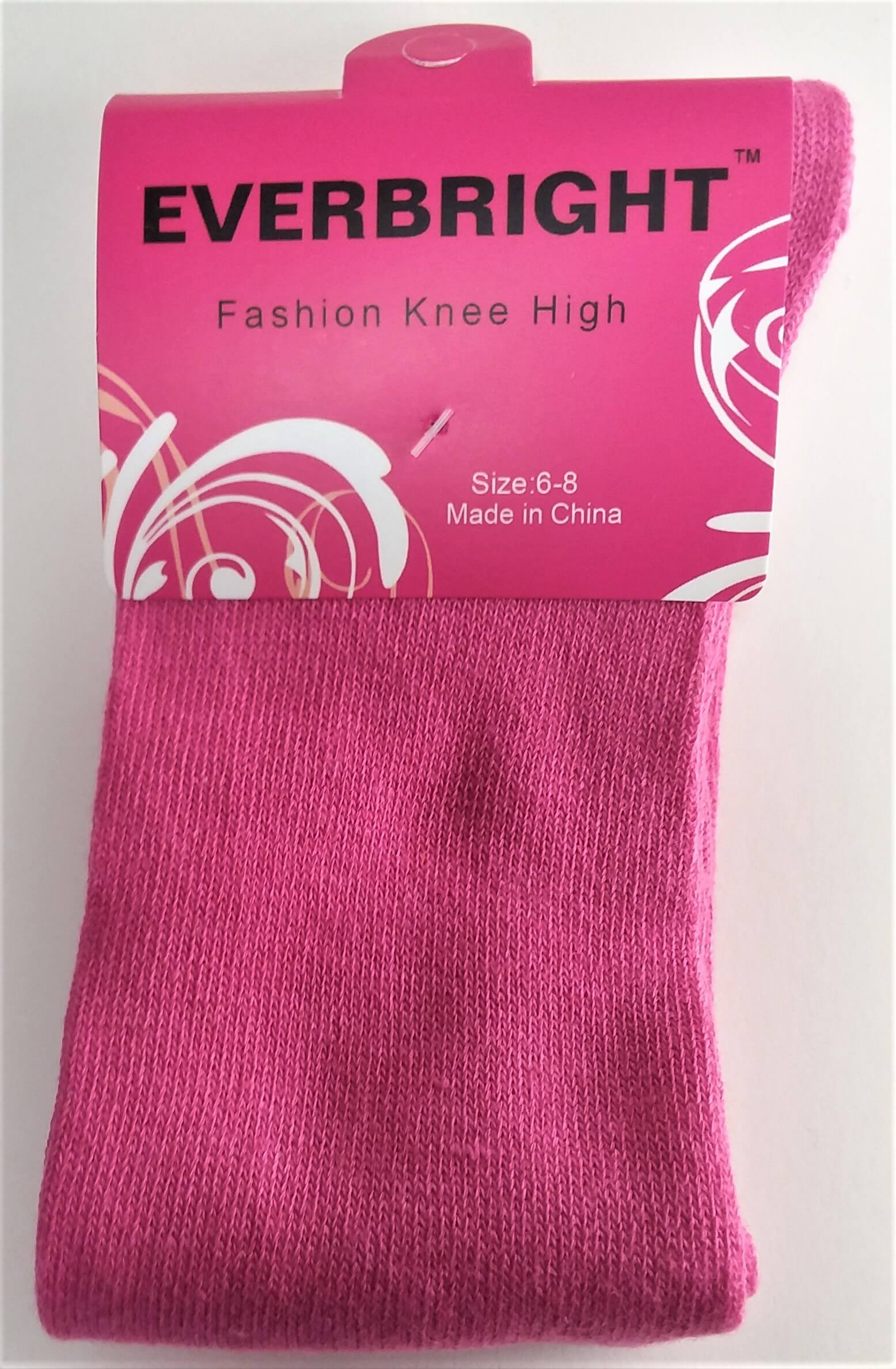 Children's Solid Pink Knee High Socks