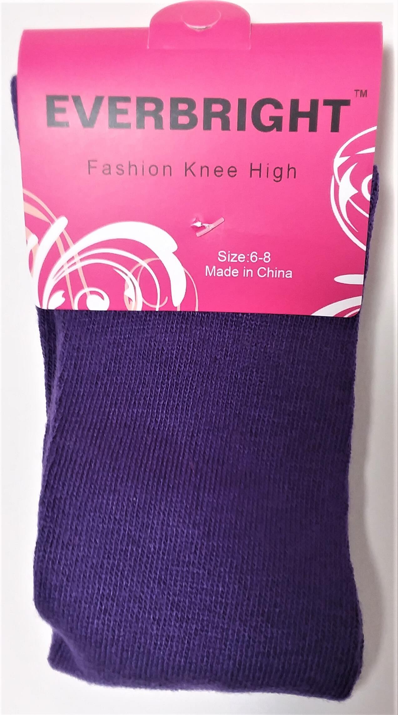 Children's Solid Purple Knee High Socks
