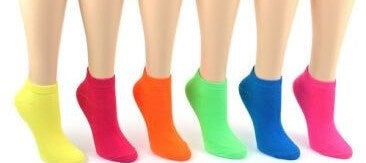 Children's Neon Low Cut Socks