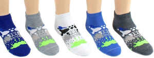 Children's Paint Splatter Low Cut Socks