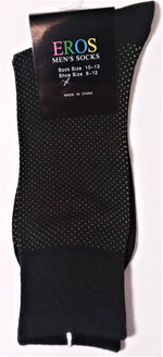 Load image into Gallery viewer, Men's Casual Crew Socks.Black with white dots