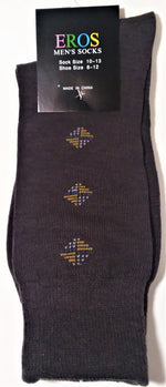 Load image into Gallery viewer, Men's Casual Crew Socks.Dark Brown with gray and tan diamonds
