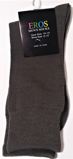 Load image into Gallery viewer, Men's Casual Crew Socks.Dark Green with dark dots