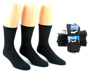 Men's Athletic Black Crew Socks