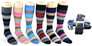 Men's Striped Crew Socks