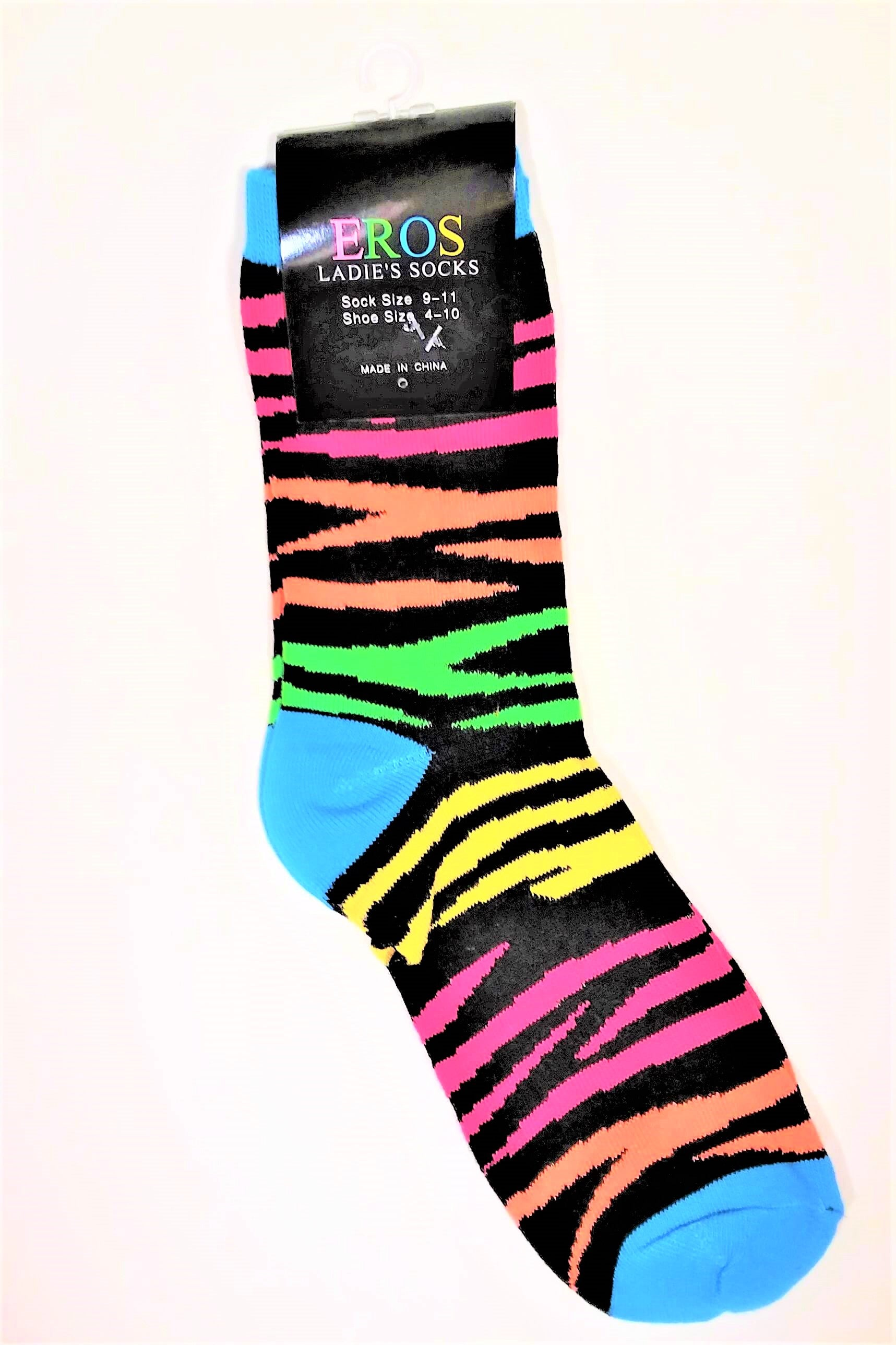 Women's Tiger-Striped Crew Socks