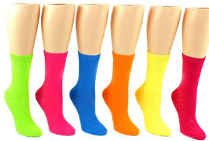 Sammy Same-Selection-But-Different-Color Bundle - Women's Solid Neon Crew Socks