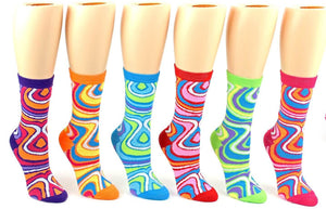 Women's Swirl Crew Socks