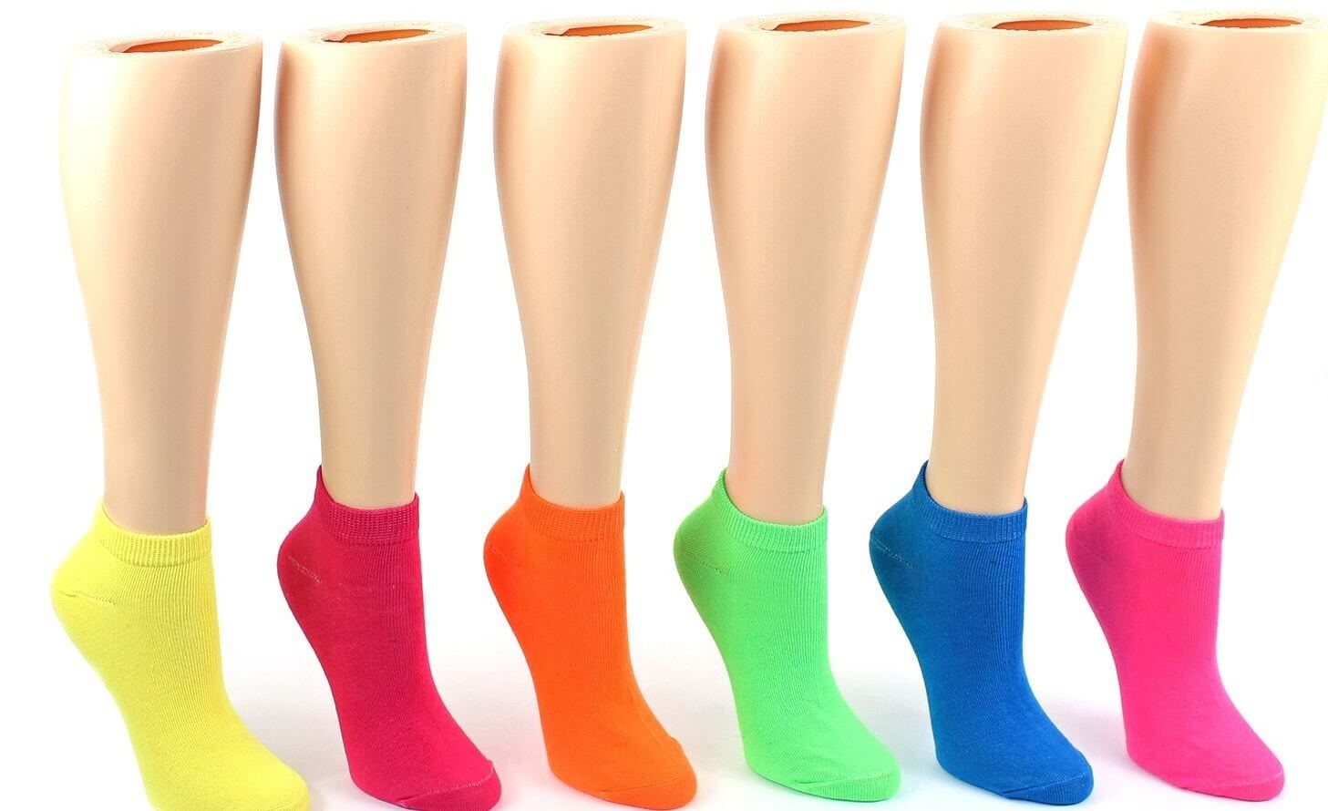 Women's Neon Low Cut Socks