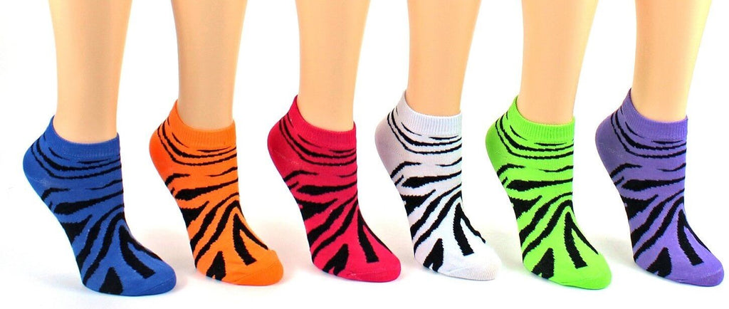 Women's Zebra Low Cut Socks