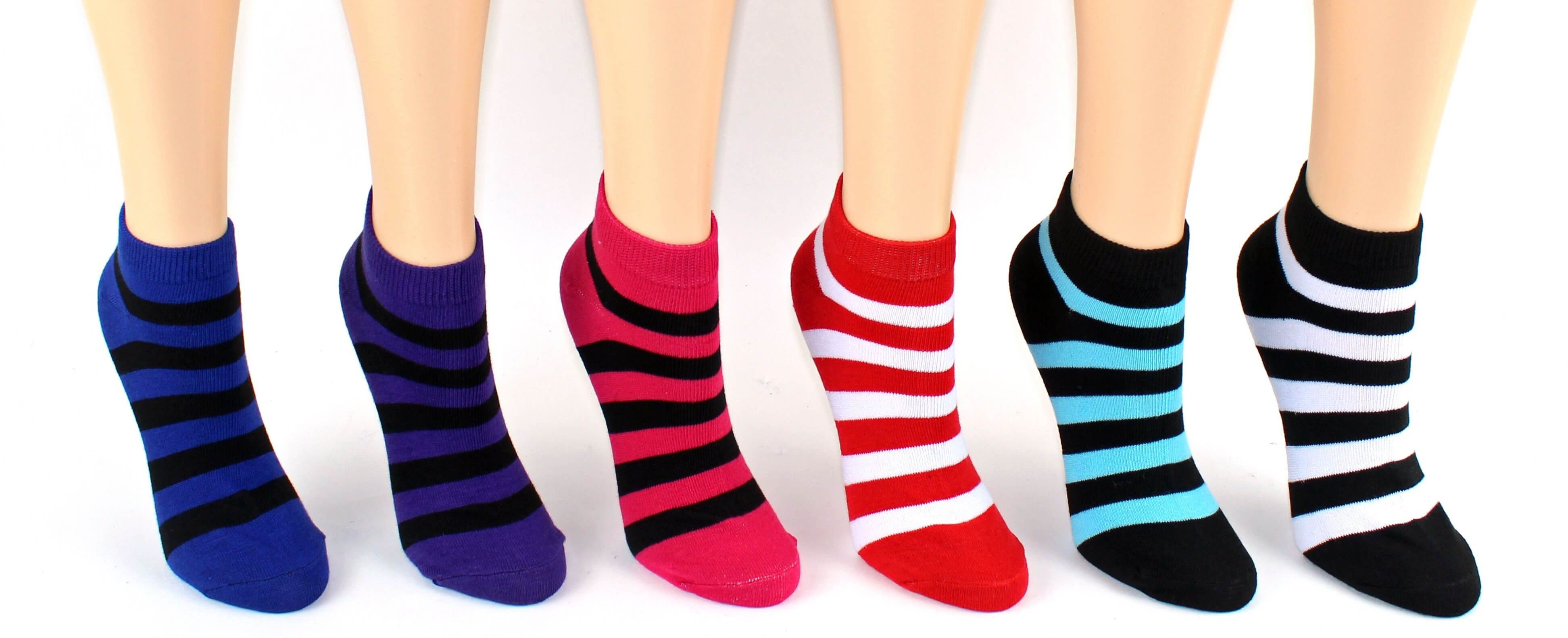 Women's Striped Low Cut Socks