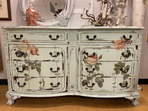 Shabby Chic Floral Dresser