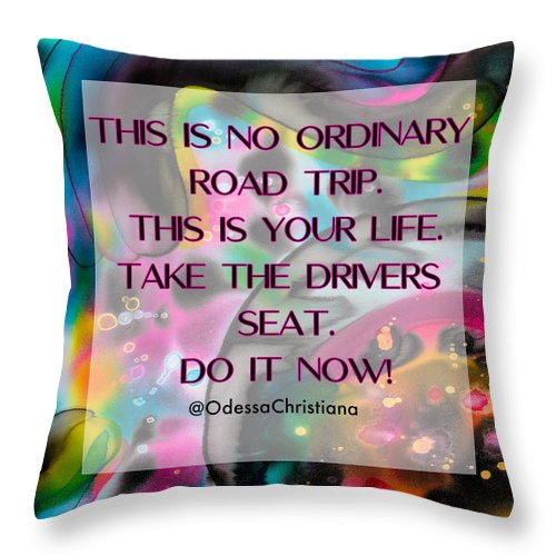 Drivers Seat - Throw Pillow