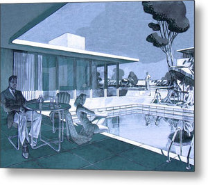 Palm Springs Sunday - Metal Print