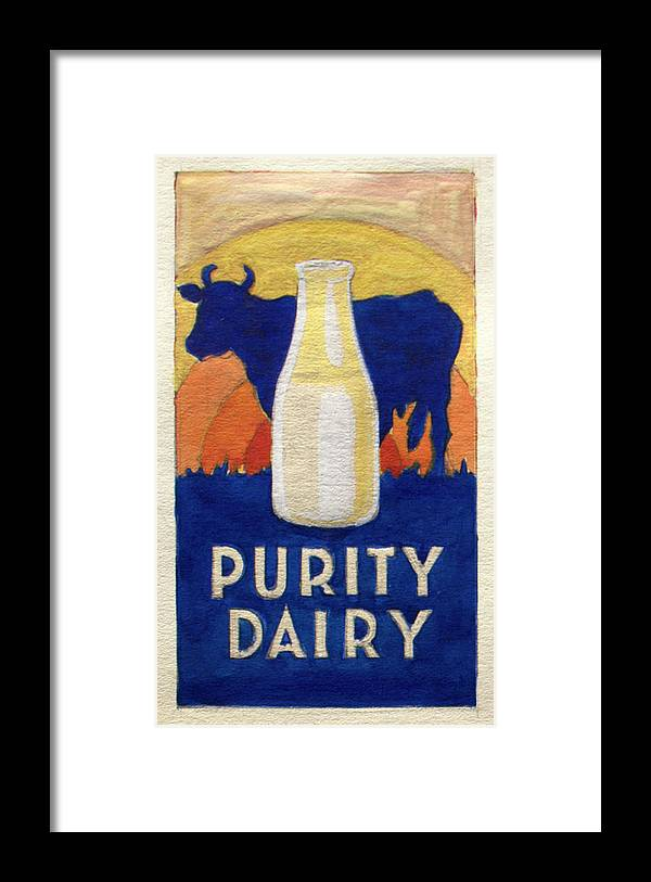 Purity Dairy - Framed Print