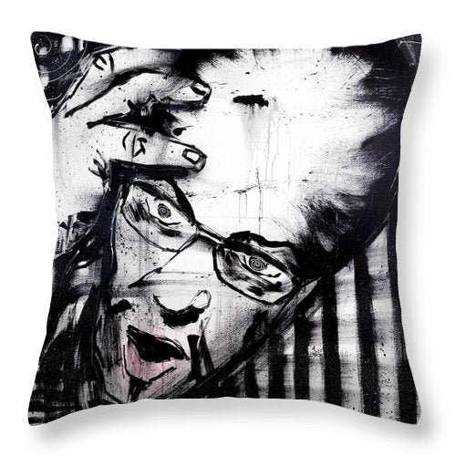 Punctured Thoughts - Throw Pillow