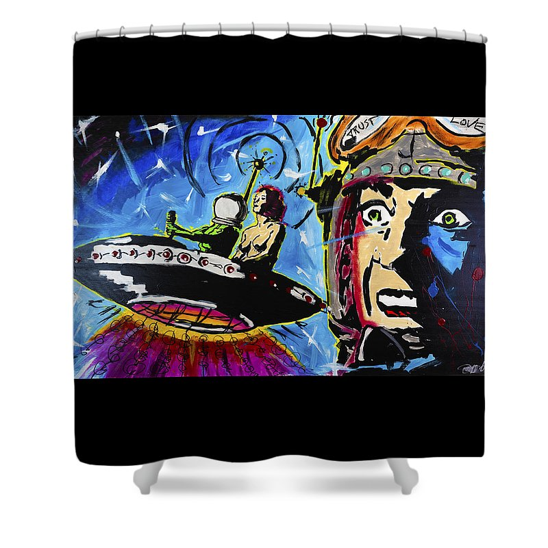 Spaceman Love - Shower Curtain