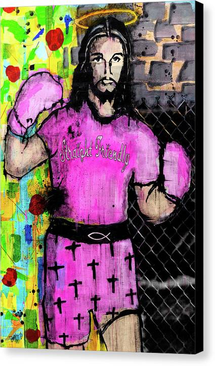 Boxing Jesus - Canvas Print