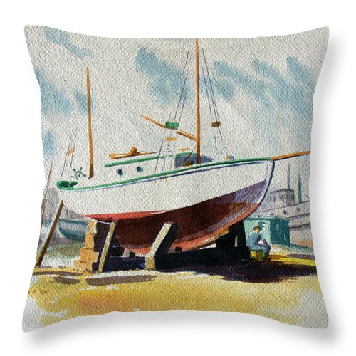 The Shipyard - Throw Pillow