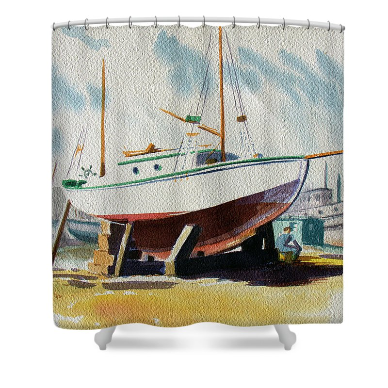 The Shipyard - Shower Curtain