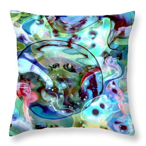 Crystal Blue Persuasion - Throw Pillow