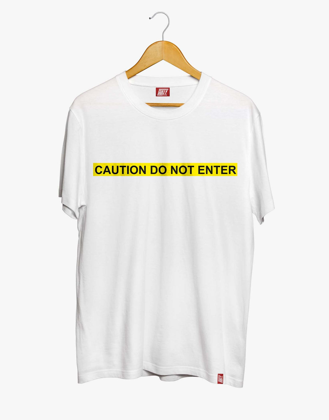CAUTION TEE (WHITE)