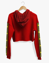 Load image into Gallery viewer, Cropped Danger Hoodie (Red)