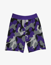 Load image into Gallery viewer, GULLY X KKR SHORTS (PURPLE)