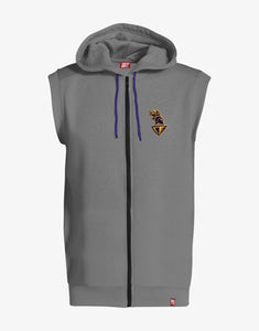 GULLY X KKR SLEEVELESS HOODIE (GREY)