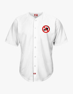 No Eating Baseball Shirt (White)