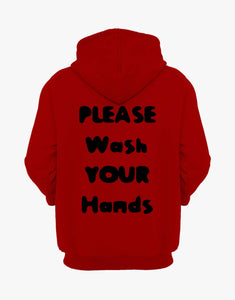 Wash Your Hands Hoodie (Red)