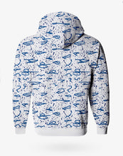 Load image into Gallery viewer, SPLASH BOMBER HOODIE WHITE